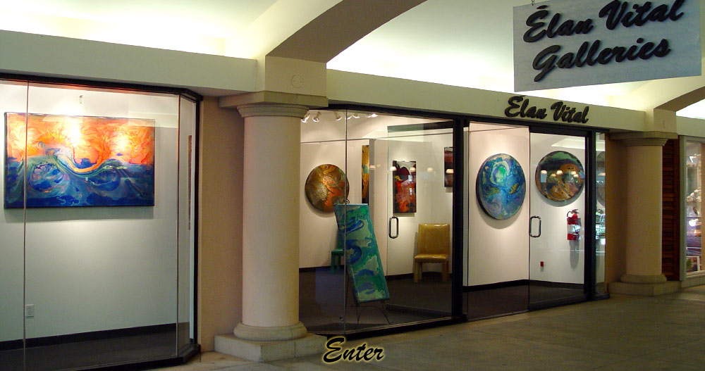 Experience creative and inspiring handcrafted works of amazing aerospace paints and unique sculptures in Élan Vital's Maui Gallery